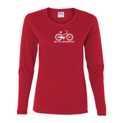 You Can Buy Happiness Women's Cruiser Bike - Gildan Ladies Ultra Cotton™ Long Sleeve Missy Fit T Shirt