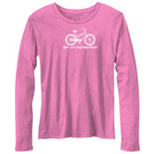 You Can Buy Happiness Women's Cruiser Bike - Bella Ladies'  4.2 oz. Missy Long-Sleeve Crew Neck Jersey T-Shirt