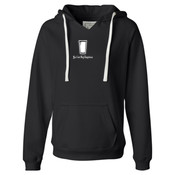 You Can Buy Happiness Beer Pint Glass - Ladies' Sueded V-Neck Hooded Sweatshirt