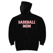 Baseball Mom with Favorite Player - DryBlend™ Pullover Unisex Hooded Sweatshirt