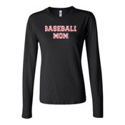 Baseball Mom with Favorite Player - Bella Long Sleeve Crew Tee