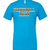 Football Mom with Favorite Player - Cotton/Polyester T-Shirt