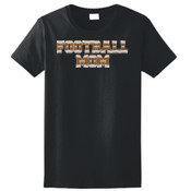 Football Mom with Favorite Player - Ladies Ultra Cotton™ 100% Cotton T Shirt