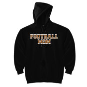 Football Mom with Favorite Player - DryBlend™ Pullover Unisex Hooded Sweatshirt