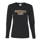 Football Mom with Favorite Player - Gildan Ladies Ultra Cotton™ Long Sleeve Missy Fit T Shirt