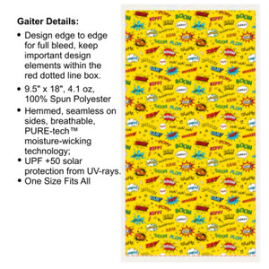 Super Hero Yellow - Multi-Purpose UV Gaiter