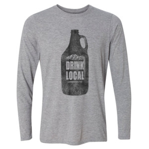 Drink Local Longmont Colorado - Light Long Sleeve Ultra Performance Active Lifestyle T Shirt