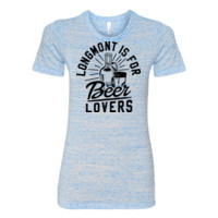 Longmont is for Beer Lovers - (S) Ladies' Cotton/Polyester T-Shirt