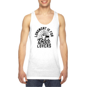 Longmont is for Beer Lovers - American Apparel Unisex Sublimation Tank