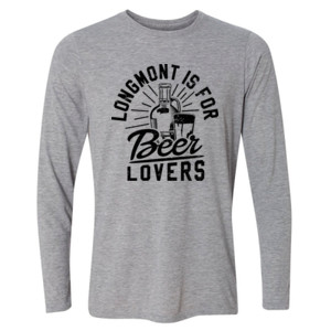 Longmont is for Beer Lovers - Light Youth Long Sleeve Ultra Performance Active Lifestyle T Shirt