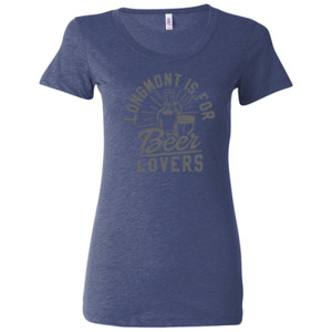 Longmont Is For Beer Lovers - Ladies' Triblend Short Sleeve T-Shirt
