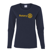 Rotary - Gildan Ladies Ultra Cotton™ Long Sleeve Missy Fit T Shirt