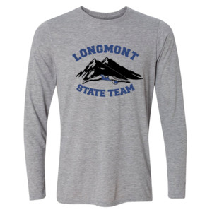 Longmont State Team - Light Youth Long Sleeve Ultra Performance Active Lifestyle T Shirt