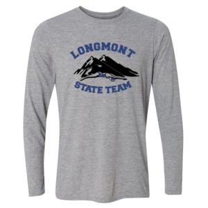 Longmont State Team - Light Long Sleeve Ultra Performance Active Lifestyle T Shirt