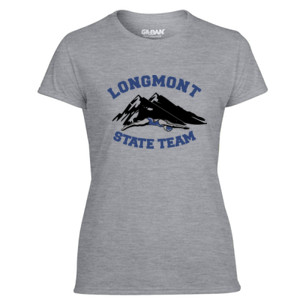 Longmont State Team - Light Ladies Ultra Performance Active Lifestyle T Shirt