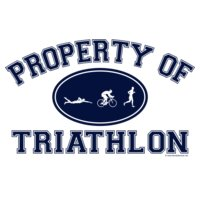 Property of Triathlon Men Tri Icons