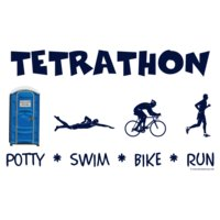 porta potty triathlete tetrathon mens