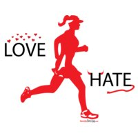 love hate with running women