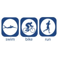 Triathlon Icons Swim Bike Run