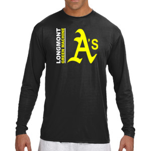 Green Machine - Long Sleeve Cooling Performance Crew Dark Color Shirt