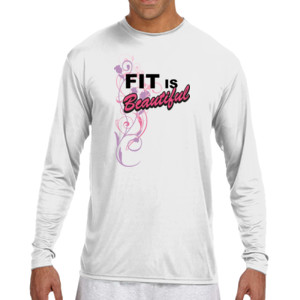 Fit is Beautiful - (S) Long Sleeve Cooling Performance Crew Light Color Shirt