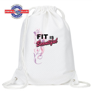 Fit is Beautiful - Jersey Mesh Drawstring Sport Pack
