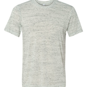 Encouraged, Inspired, Empowered - White Marble Unisex Poly-Cotton Short-Sleeve T-Shirt