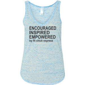 Encouraged, Inspired, Empowered - Ladies' Flowy V-Neck Tank
