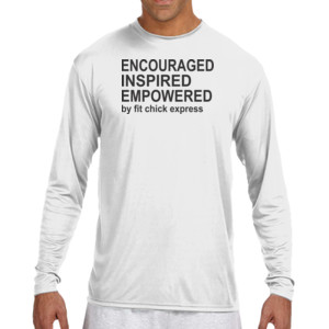 Encouraged, Inspired, Empowered - (S) Long Sleeve Cooling Performance Crew Light Color Shirt