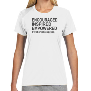 Encouraged, Inspired, Empowered - (S) Ladies' Shorts Sleeve Cooling Performance Crew Light Color Shirt