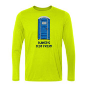 Runner's Best  Friend Porta Potty  - Light Long Sleeve Ultra Performance 100% Performance T Shirt