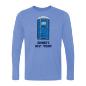 Runner's Best  Friend Porta Potty  - Light Youth Long Sleeve Ultra Performance 100% Performance T Shirt