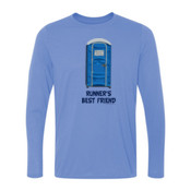 Runner's Best  Friend Porta Potty  - Light Ladies Long Sleeve Ultra Performance 100% Performance T Shirt