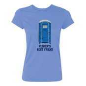 Runner's Best  Friend Porta Potty  - Light Ladies Ultra Performance 100% Performance T Shirt