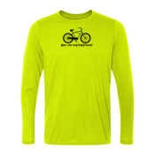 You Can Buy Happiness Men's Cruiser Bike - Light Long Sleeve Ultra Performance 100% Performance T Shirt
