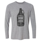 Drink Local Longmont Colorado - Light Youth Long Sleeve Ultra Performance Active Lifestyle T Shirt