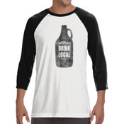 Drink Local Longmont Colorado - ALO 100% Performance Unisex Baseball T-Shirt