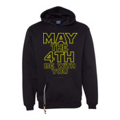 May the 4th Be With You - Tailgate Hoodie with Koozie & Bottle Opener