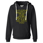 May the 4th Be With You - Ladies' Sueded V-Neck Hooded Sweatshirt