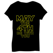 May the 4th Be With You - Bella Short-Sleeve V-Neck T-Shirt