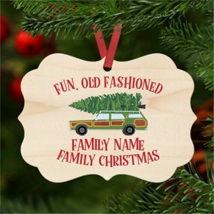 Fun Old Fashioned Family Christmas Ornament