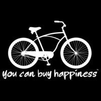 You can buy happiness men s bike white