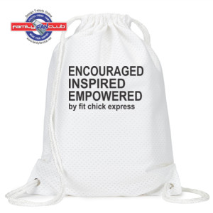 Encouraged, Inspired, Empowered - Jersey Mesh Drawstring Sport Pack