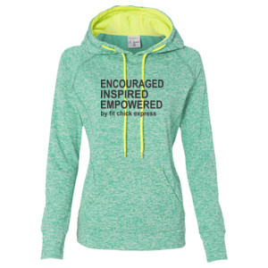 Encouraged, Inspired, Empowered - Ladies' Cosmic Poly Contrast Hooded Pullover Sweatshirt