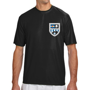 LHS Shield - Shorts Sleeve Cooling Performance Crew Dark Color Shirt