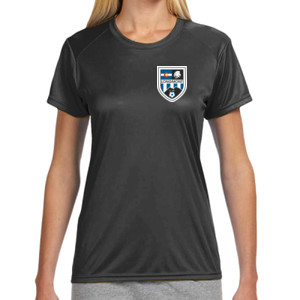 LHS Shield - Ladies' Shorts Sleeve Cooling Performance Crew Dark Color Shirt