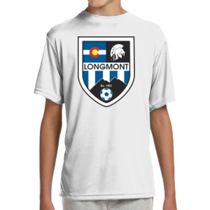 LHS Shield - (S) Youth Shorts Sleeve Cooling Performance Crew Ligh Color Shirt