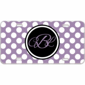 Monogram Custom Mini License Plate Polka Dots - You Make It