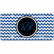 Monogram Custom Mini License Plate Chevron - You Make It
