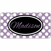 Name Custom Mini License Plate Polka Dots - You Make It
